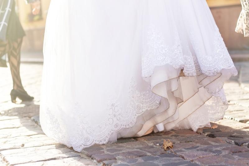 macchie su abito da sposa