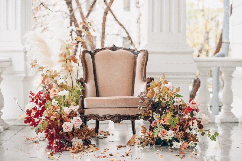angolo social per matrimonio in autunno