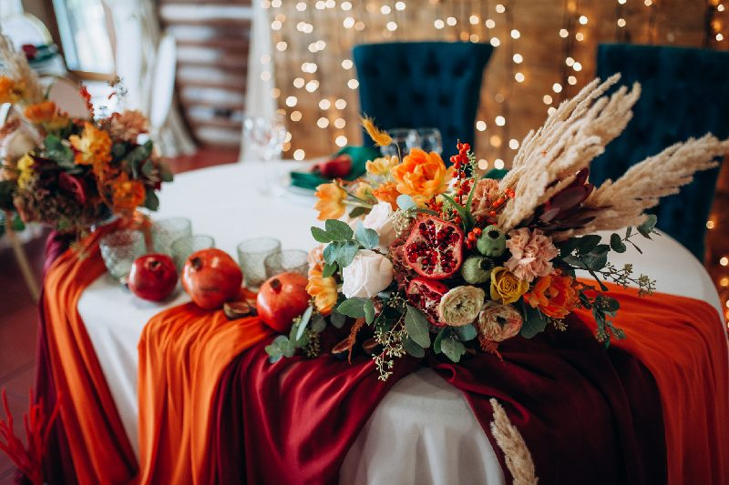 matrimonio in autunno allestimento sala